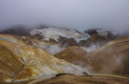 geothermal: Geothermal Valley Kerlingarfjoll, Iceland Stock Photo