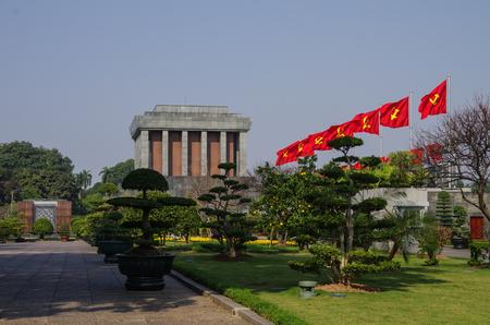min: Ho Shi Min mausoleum in Hanoi city