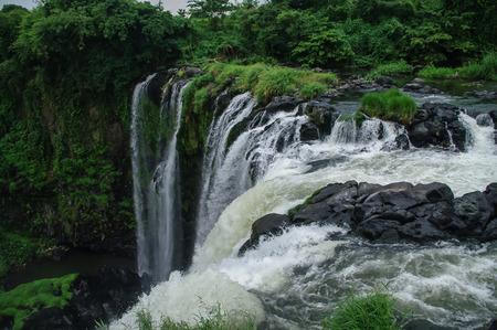 Waterfall Salto de Eyipantla, San Andres Tuxtla Mexico Banco de Imagens