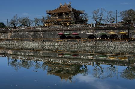 hue: Inside the citadel. Imperial Forbidden City. Hue, Vietnam. Editorial