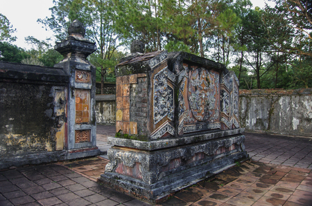 imperial: Vietnamese ancient imperial tomb Stock Photo