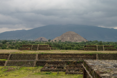 site: Stage in Teotihuacan site, Mexico