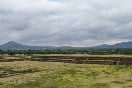 site: Stage in  Teotihuacan site, Mexico Stock Photo