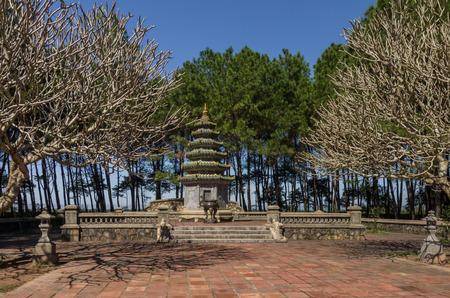 hue: Hue, Vietnam: Thien Mu Pagoda. Unesco World Heritage Site.