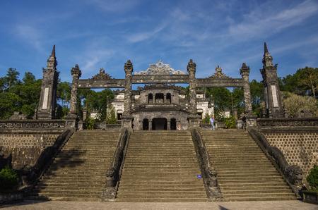 hue: Hue, Vietnam - january 5,2015 - Imperial Khai Dinh Tomb in Hue, Vietnam Editorial