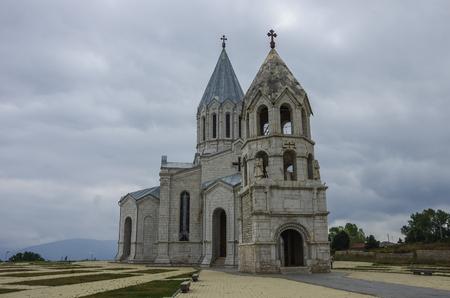 Catedral de Cristo el Salvador Santo, Shushi, República de Nagorno Karabaj Foto de archivo