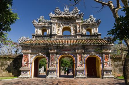 hue: Gate of the citadel. Imperial Forbidden City. Hue, Vietnam.