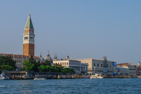 campanille: Doges Palace and St Marks Campanile in Venice, Italy