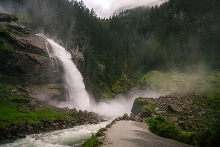 tauern: Krimmler (Krimml) waterfall. Highest fall in Austria (Tirol) - Alps beautiful mountain, Hohe Tauern national park