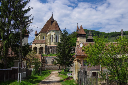 biertan: Biertan, Transylvania. Tourist Saxon village with fortified church (castle) in Romania Editorial