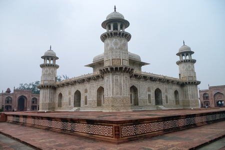 jewel box: Itmad-Ud-Daulahs tomb in Agra, Uttar Pradesh, India. Also known as the Jewel Box or the Baby Taj.
