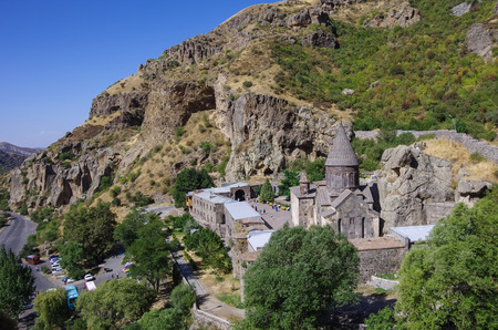 geghard: The top view on the medieval Geghard monastery complex, Armenia