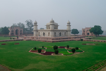 mughal empire: Itmad-Ud-Daulahs tomb in Agra, Uttar Pradesh, India. Also known as the Jewel Box or the Baby Taj.