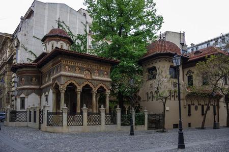 gabriel: Stavropoleos monastery,St. Michael and Gabriel church in Bucharest,Romania. Stock Photo