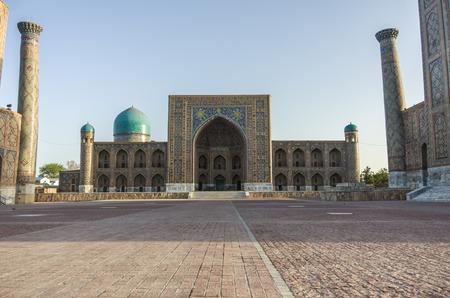 registan: Madrasah Tilla-Kari on Registan square, Samarkand, Uzbekistan