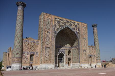 registan: Ulugbek Madrasah on Registan Square in Samarkand, Uzbekistan