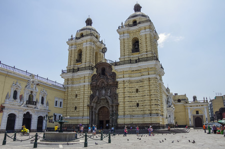Convento de San Francisco or Saint Francis Monastery, Lima, Peru Фото со стока