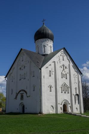 novgorod: Old Russian Orthodox church of the Transfiguration on Ilyina Veliky Novgorod, Russia