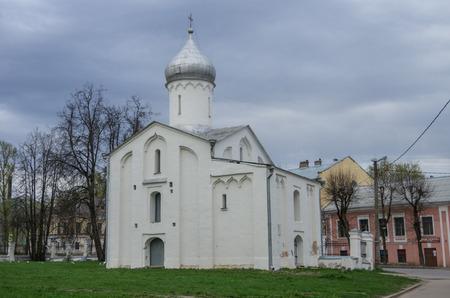 veliky: Church of Procopius in Yaroslavs court. Veliky Novgorod. No people Stock Photo