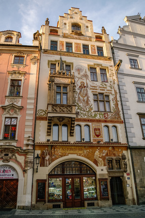 praha: Praha, Czech Republic, May 10, 2012: Houses on Old Town Square in Prague