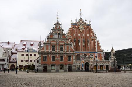blackhead: Blackheads House on the Town Hall square, Riga, Latvia