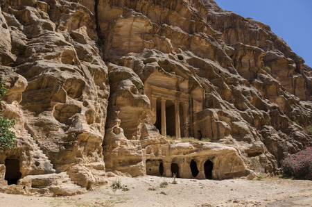 nabataean: Nabataean delubrum of the Siq al-Barid in Jordan. It is known as the Little Petra.