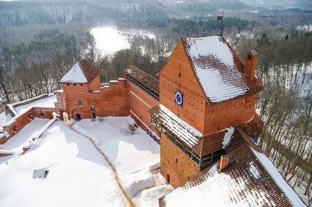 gauja: Turaida Castle is a recently reconstructed medieval castle in Turaida, in the Vidzeme region of Latvia, on the opposite bank of the Gauja River from Sigulda.