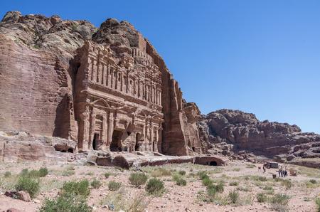 tumbas: El palacio de la tumba de la tumba real, Petra, Jordania