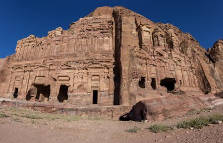 corinthian: The Palace tomb and the Corinthian tomb, two of the Royal Tombs, Petra , Jordan Editorial