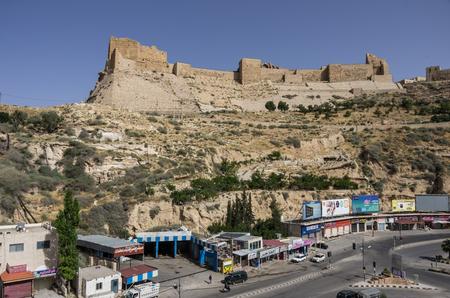 Al-Karak, Jodan - June 03, 2016: View to the crusader castle Kerak (Al karak) in Jordan