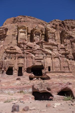 corinthian: Corinthian tomb, one of the Royal Tombs, Petra , Jordan Stock Photo