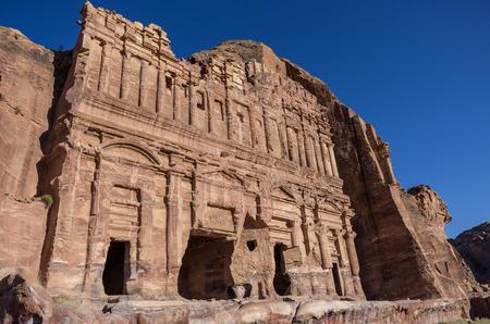 The Palace tomb. One of the Royal Tombs, Petra , Jordan Editorial