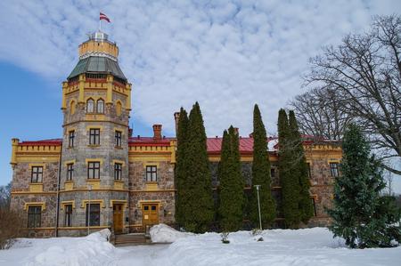 sigulda: Sigulda, Latvia-  Mart 8, 2011: Sigulda New Castle (former Kropotkin manor), now Sigulda Town Council. Editorial