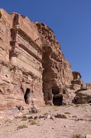 unnamed: One of the unnamed Royal tombs. Petra, Jordan. No people