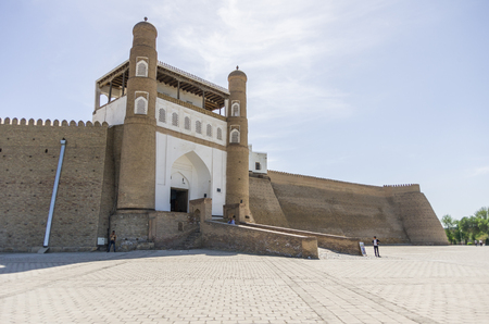 ark: Gate of Bukhara Fortress - The Ark, Uzbekistan. Central Asia. Editorial