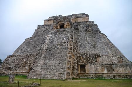 yucatan: Great Pyramid of Uxmal Yucatan Mexico