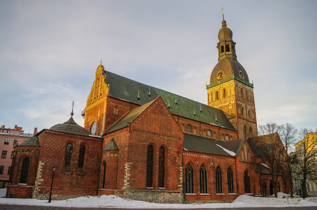dome building: Historical building of Riga Dome Cathedral, Latvia. Editorial
