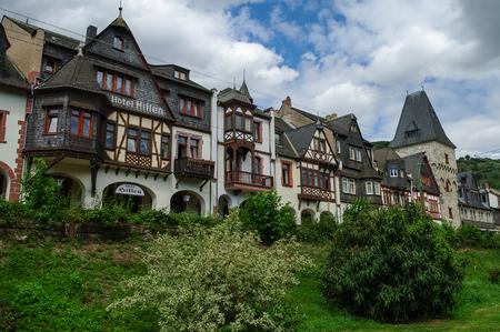 fachwerk: Bacharach, Germany - Medieval village Bacharach. Traditional frameworks (Fachwerk) houses in city streets. Rhine valley, Germany.