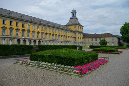 campus tour: Bonn, Germany - July 10, 2011: Main building of university in Bonn