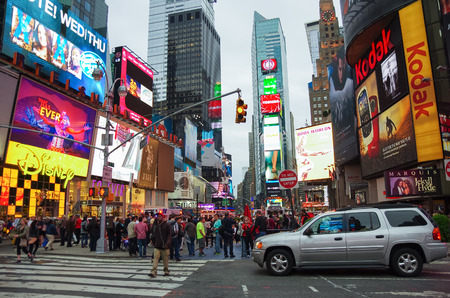 new york times: New York city,USA - July 21,2014: The Times Square at evening  in New York, Times Square is major commercial intersection in New york and one of the most visited tourist attractions in the world.