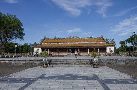 hue: Royal palace in Citadel. Imperial Forbidden City, Hue, Vietnam Editorial
