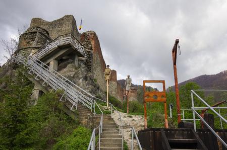 Poenari Fortress is Vlad Tepes castle, prince of medieval Wallachia, modern Romania Reklamní fotografie