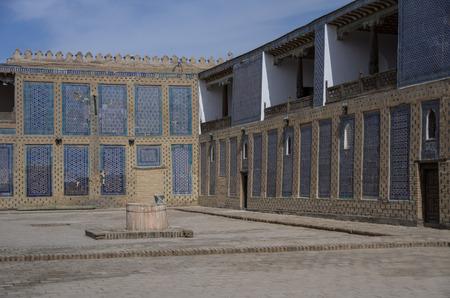 harem: The harem courtyard s in Tosh Hovl Palace, Khiva.