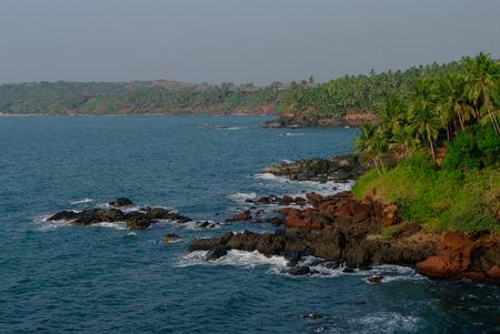 Sea view from Cabo de Rama fort, near Agonda beach, Goa state, India