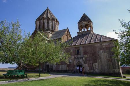 armenian: Gandzasar, Nagorno Karabakh Republic- September 20, 2014: Old medieval armenian church of  Gandzasar monastery, Nagorno-Karabakh Republic