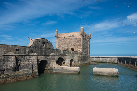 Sqala du Port ( Northern Scala ), a defensive tower at the fishing port of Essaouira, Moroc Editorial
