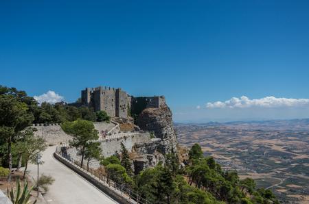 Medieval Castle of Venus in Erice, Sicily, Italy