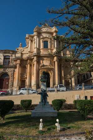 The church of San Domenico in Noto, Sicily, Italy Stock Photo