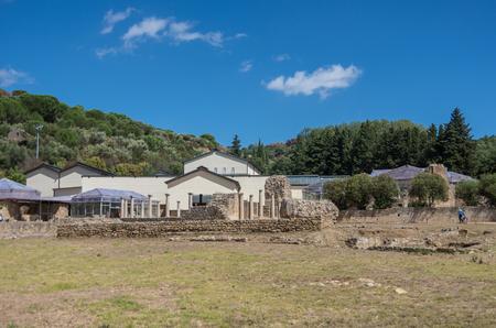 Ruins of Villa Romana del Casale,  Sicily, Italy Stock fotó