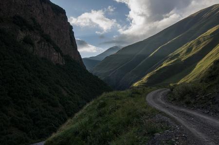 Terek river in Thurso mountain valley. Mtskheta-Mtianeti Region, Georgia